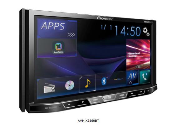 AVH-X5850BT стороне-синего экрана